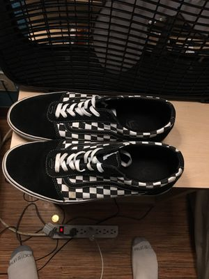 Black Checkered vans for Sale in Des Moines, IA