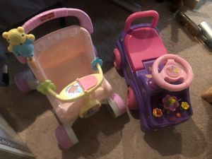 Two push toys For little girls for Sale in Virginia Beach, VA