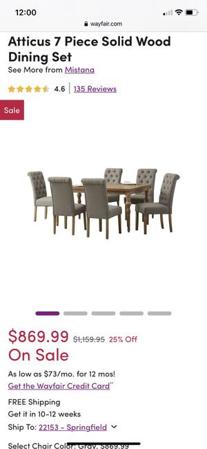 Brand New Dining Set! Still In The Boxes for Sale in Lorton, VA