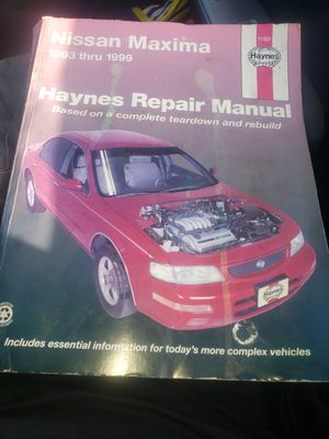 93-99 Nissan Maxima Repair Manual for Sale in Long Beach, CA