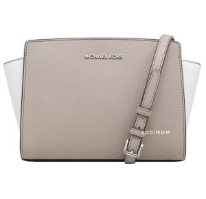MICHAEL KORS SELMA MESSENGER CROSSBODY HAND BAG Shoulder Bag PURSE SAFFIANO LEATHER Removable adjustable strap ⭐️100% AUTHENTIC for Sale in Plymouth, MI