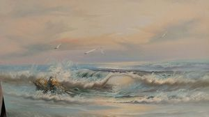 New never used waves oil painting for Sale in Plano, TX
