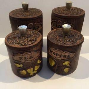 Treasure Craft Vintage MCM Ceramic Kitchen Canisters for Sale in Horseshoe Beach, FL