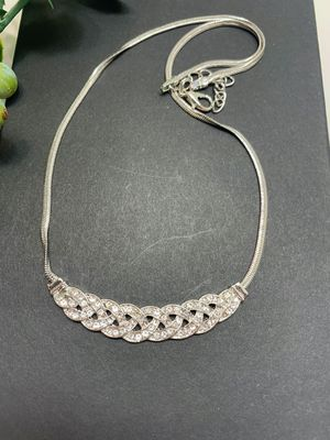 Romantic Choker Chain Necklace, Silver Color for Sale in Los Angeles, CA