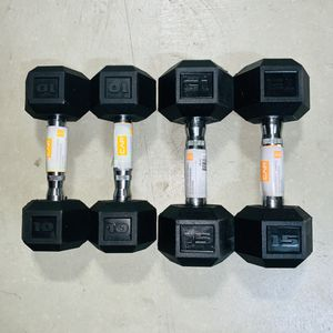 Brand new Cap🏋🏽♂️ Dumbbells set (10lbs & 15lbs ) for Sale in Fontana, CA