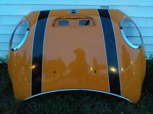 MINI COOPER HOOD WITH CROME HEADLIGHT RINGS AND WINDSHIELD CROME for Sale in Piedmont, SC