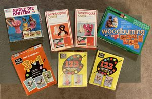 Vintage 1970's Children's Games & Crafting Kits 99% Never Used! for Sale in Lemont, IL