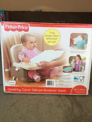 Fisher Price healthy care deluxe booster seat(unopened) for Sale in Clarksburg, MD