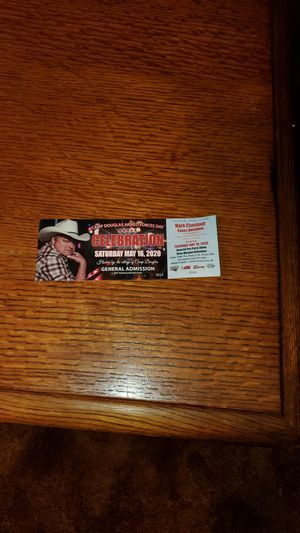 Concert ticket for Sale in Warrens, WI