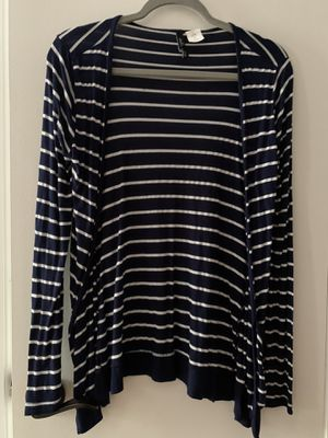 Dark Blue White Striped Cardigan (Size: Small) for Sale in New Milford, CT