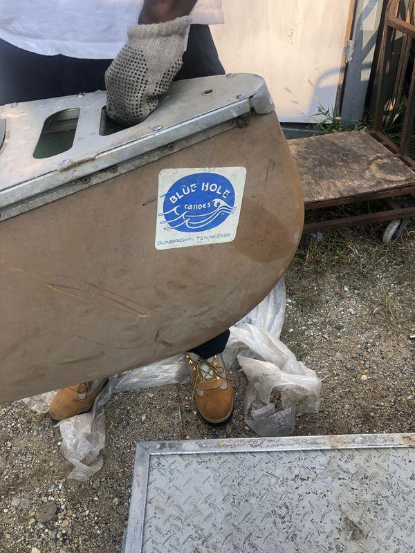 Rare Blue Hole Canoe