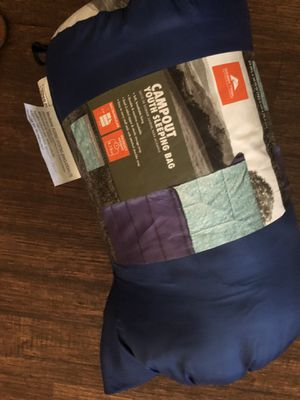 Campout youth sleeping bag 10$ use one time for Sale in El Cajon, CA