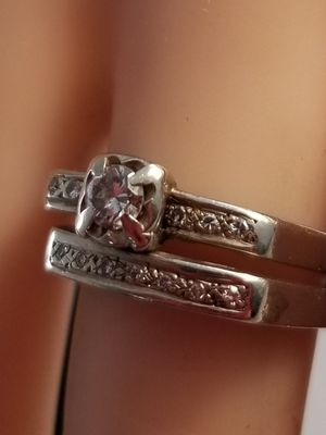 Vintage Diamond Wedding Ring Set 14k white gold for Sale in Concord, MA