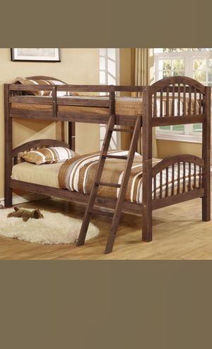 Twin Twin Wood Bunkbed W/ Slats! Brand New In Box! for Sale in Newport News, VA