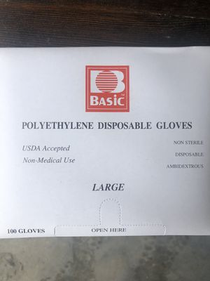 Polyethylene Disposable Gloves box for Sale in Delmar, MD