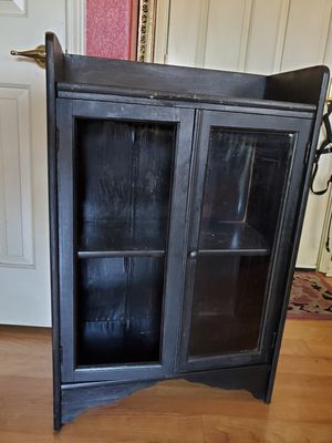 Storage shelf cabinet antique shabby chic for Sale in Oceanside, CA