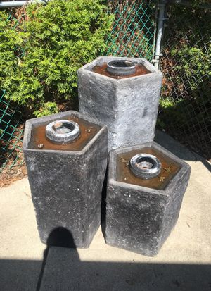 Backyard statue or fountain light or flame for Sale in Hoffman Estates, IL