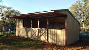 Shed Row 2 Stall Barn with Tack Room for Sale in Elk Grove, CA