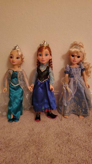 "18"" Rare Anna, Elsa and Cinderella Dolls for Sale in Bradenton, FL"