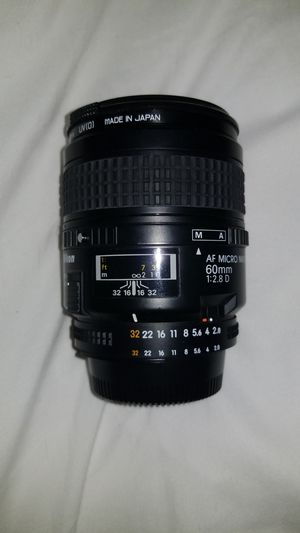 Nikon AF MICRO(MACRO) NIKKOR 60mm 1:2.8 D Lense for Sale in Helotes, TX