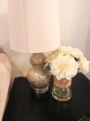 Beautiful Glass Silver Speckled Table Lamps Homegoods / Marshall's (Set of 2) for Sale in Santa Monica, CA