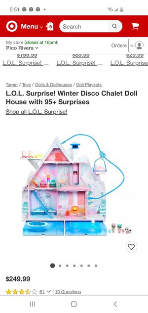 lol winter doll house $150 for Sale in Huntington Park, CA