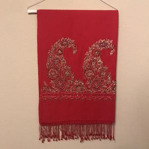 Beautiful Red Shall Scarf Throw for Sale in Los Angeles, CA