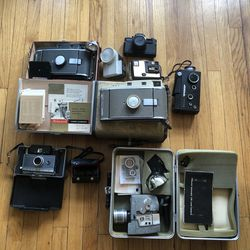 Lot of 7 Vintage Cameras & Accessories - Polaroid, Kodak, Weston, etc for Sale in Chicago,  IL