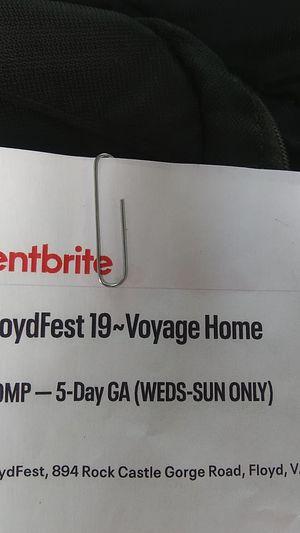 Floydfest 19, two 5 day passes for Sale in Blacksburg, VA