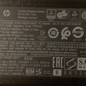 HP Laptop Charger Blue Tip 65V for Sale in Los Angeles, CA