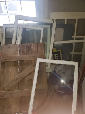 Antique glass windows. for Sale in Troy, IL