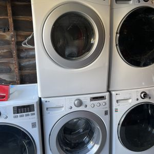 Washer and dryer LG Front Load Gas dryer with 3 months warranty free Delivery installation<<<hablo español for Sale in Oakland, CA