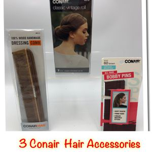 Bundle deal Conair Comb, Classic Vintage Roll & 60 Bobby Pins for Sale in Tinton Falls, NJ