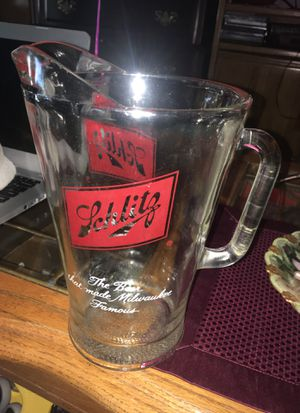 Vintage Large Heavy Glass Schlitz Beer Pitcher for Sale in Independence, OH