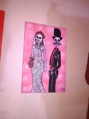 Dia De Los Muertos canvas painting for Sale in Columbia, MO