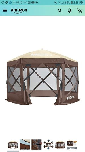 MASTERCANOPY Escape Shelter, 6-Sided Canopy Portable Pop up Canopy Durable Screen Tent Bug and Rain Protection (7-9 Persons) for Sale in Glendale, AZ