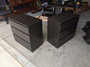 MALM drawer / dresser - dark brown - 2x for Sale in Santa Clara, CA