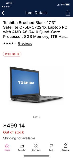 Toshiba laptop for Sale in Indianapolis, IN