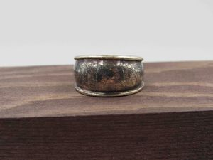 Size 7 Sterling Silver Heavily Tarnished Band Ring Vintage Statement Engagement Wedding Promise Anniversary Bridal Cocktail Friendship for Sale in Everett, WA