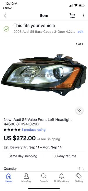 Valeo (OEM Audi) left headlamp for Sale in Washington, DC