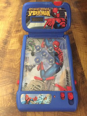 Spider-Man table top electronic (lights and sounds) pinball game for kids. for Sale in Sacramento, CA