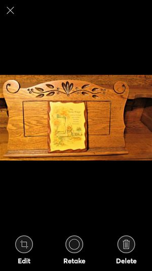 """HANDMADE """"MY HOME PRAYER"""" PLAQUE 8.5 X 6 COUNTRY NICE RUSTIC SOLID WOOD for Sale in Lynchburg, VA"""