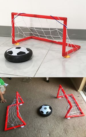 "New $10 Hover Air Soccer Ball Toy Set with 2 Goals for Kids Age 3+ Years old, Size: 19x10x10"" for Sale in South El Monte, CA"