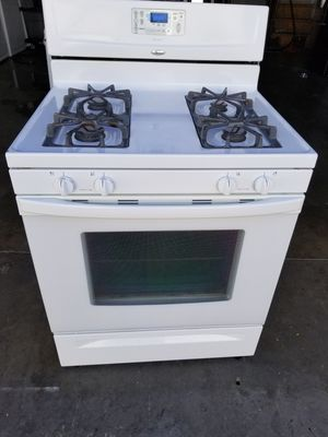 """Whirlpool 30"""" GAS range with oven works great fully functional very clean for Sale in Cerritos, CA"""