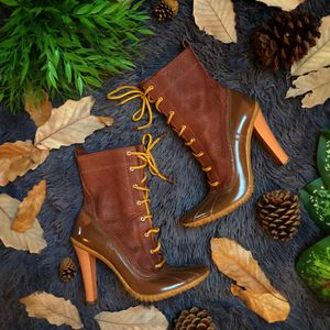 Casadei RARE! Leather & rubber heel rain boots for Sale in McLean, VA