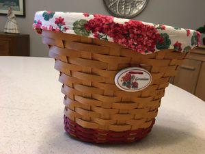 Longaberger 2002 May series Geranium basket for Sale in Northfield, OH