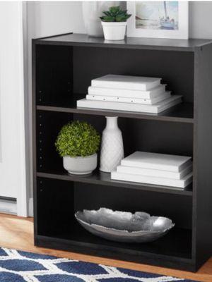 "New!! Bookcase, bookshelves , 3 71"" shelves bookcase, storage unit,organizer, living room furniture, lamp,stand, entrance furniture, black for Sale in Phoenix, AZ"