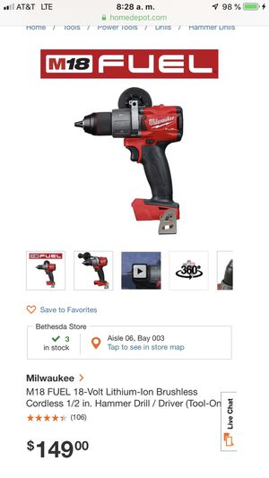 NEW MILWAUKEE HAMMER DRILL for Sale in Rockville, MD