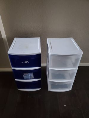 3 plastic drawer for Sale in Parker, CO