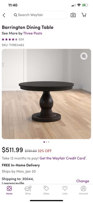 Barring Ron Dining Table (NEW) for Sale in Lawrenceville, GA